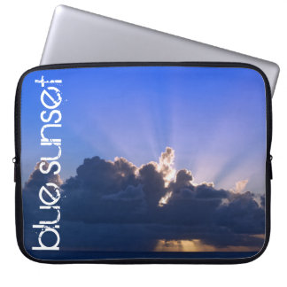 Blue sunset for laptop bag