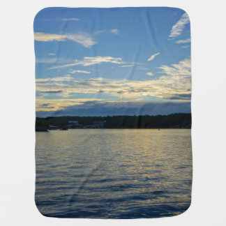 Blue Sunset Lake Of Ozarks Baby Blanket