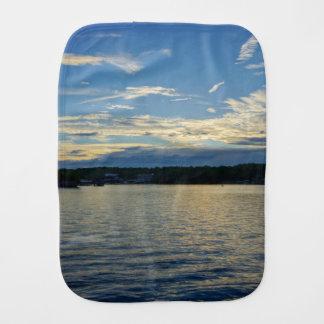 Blue Sunset Lake Of Ozarks Burp Cloth