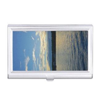 Blue Sunset Lake Of Ozarks Business Card Holder