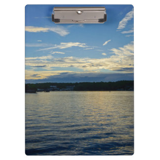 Blue Sunset Lake Of Ozarks Clipboard