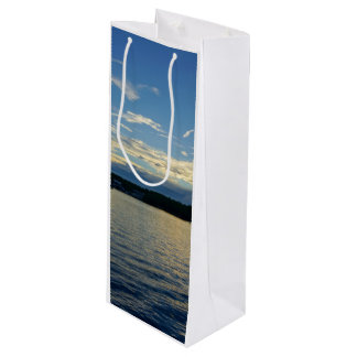 Blue Sunset Lake Of Ozarks Wine Gift Bag