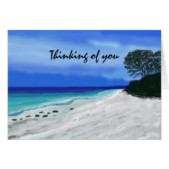 Blue Sunset  Thinking of You Cards