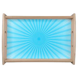 Blue Sunshine Radial Pattern Serving Tray
