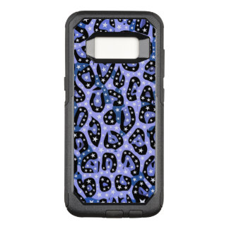 Blue Super Star Cheetah Abstract OtterBox Commuter Samsung Galaxy S8 Case
