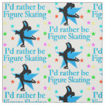 BLUE SUPER STAR FIGURE SKATER FABRIC