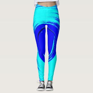 Blue Surf Leggins Leggings