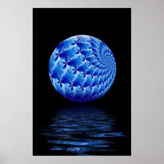 Blue Suspended Sphere Fractal Print