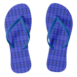 Blue Swags Flip Flops