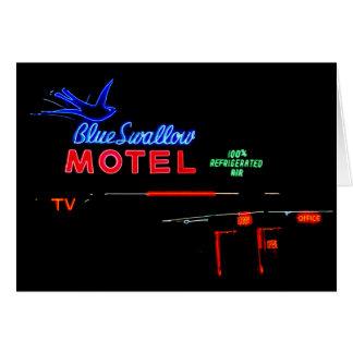 Blue Swallow Motel Neon Sign, Tucumcari, N.M. Card