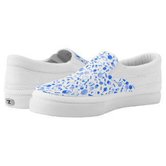 Blue Sweet as candy pattern Slip-On Sneakers