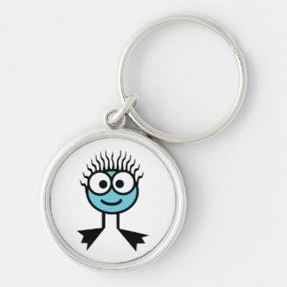 Blue Swim Character Key Ring