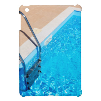 Blue swimming pool with ladder iPad mini case