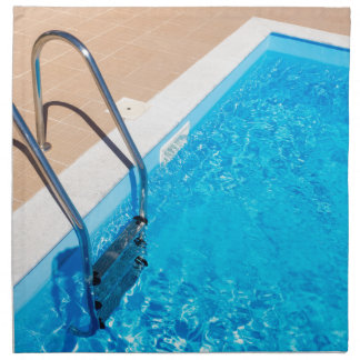 Blue swimming pool with ladder napkin