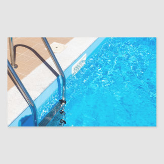 Blue swimming pool with ladder sticker