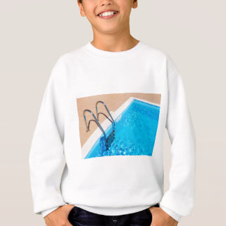 Blue swimming pool with ladder sweatshirt