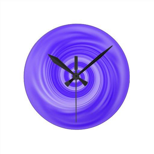Blue Swirl Candy Abstract Art Clock