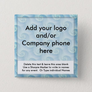 Blue Swirl Event Business Name Badges Tags Pins