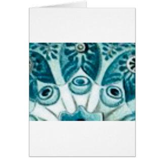 blue swirl pattern card