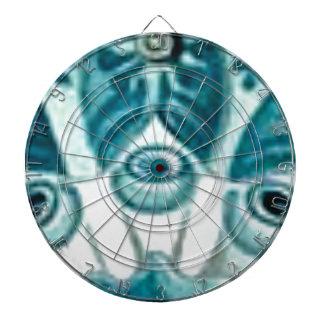 blue swirl pattern dartboard