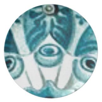 blue swirl pattern plate