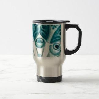 blue swirl pattern travel mug