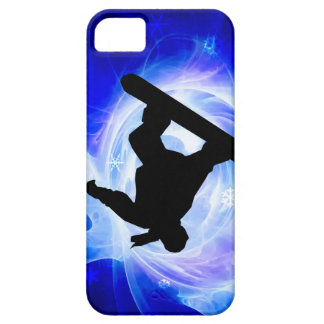Blue Swirl Snowstorm Snowboard Case For The iPhone 5