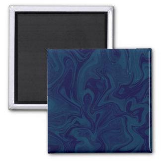 Blue Swirl Square Magnet