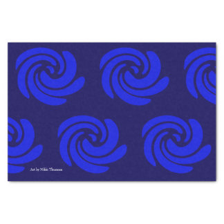 Blue Swirl Tissue Paper