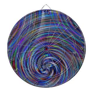 Blue swirls color pattern dartboard