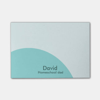 Blue swirls homeschool dad post-it notes