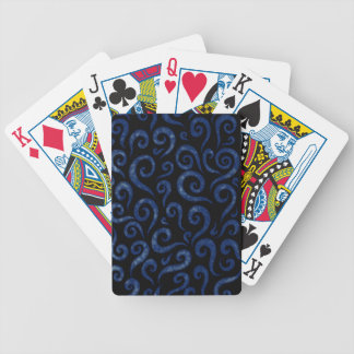 Blue Swirls Pattern Bicycle Playing Cards