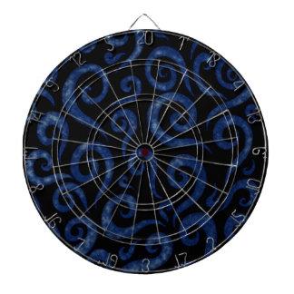 Blue Swirls Pattern Dartboard