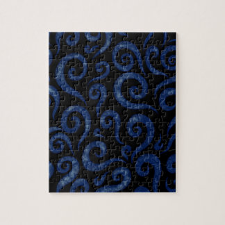 Blue Swirls Pattern Jigsaw Puzzle