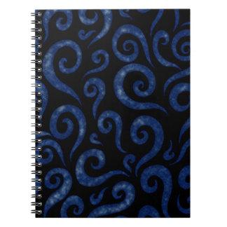 Blue Swirls Pattern Notebook
