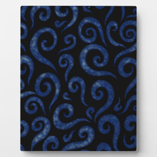 Blue Swirls Pattern Plaque