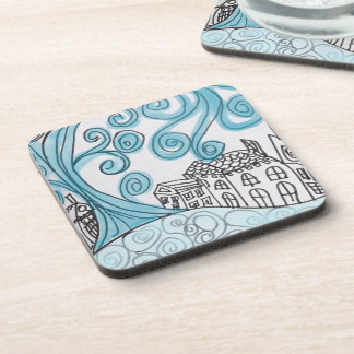 Blue Swirly Coasters