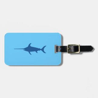 Blue Swordfish Luggage Tag