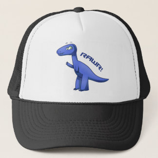 Blue T-Rex Trucker Hat