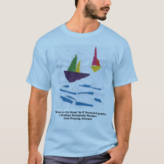 "BLUE T-SHIRT ""Sailboats"" (PICTURE IN FRONT)"