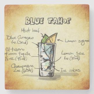 Blue Tahoe Drink Recipe Stone Beverage Coaster