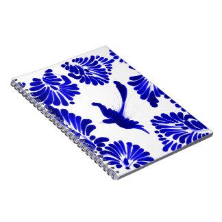 Blue Talavera Bird Spiral Notebook