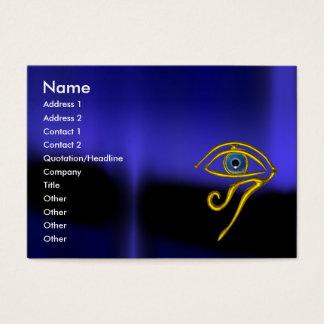 BLUE TALISMAN / GOLD HORUS EYE BUSINESS CARD