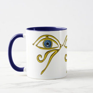 BLUE TALISMAN / GOLD HORUS EYE White Mug