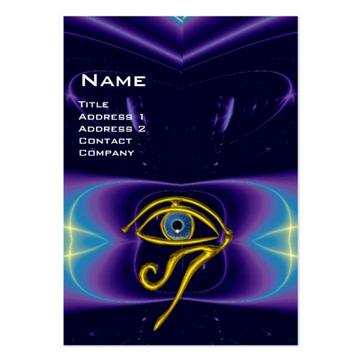 BLUE TALISMAN, purple violet white pink Business Card Template