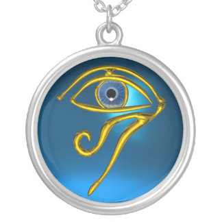 BLUE TALISMAN  Sapphire Silver Plated Necklace