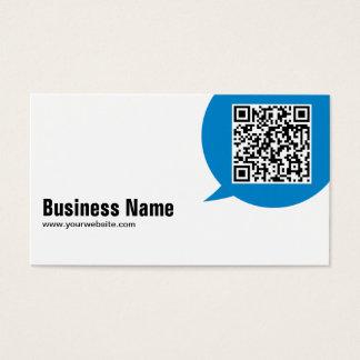 Blue Talk Bubble Plumbing Business Card