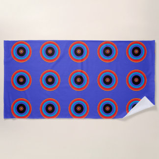 blue target beach towel