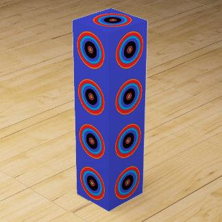 blue target circle wine box