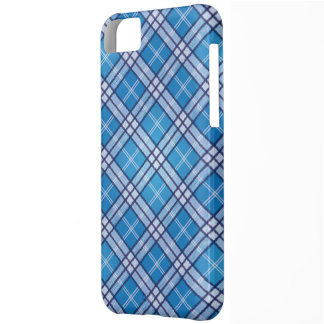 Blue Tartan Cover For iPhone 5C